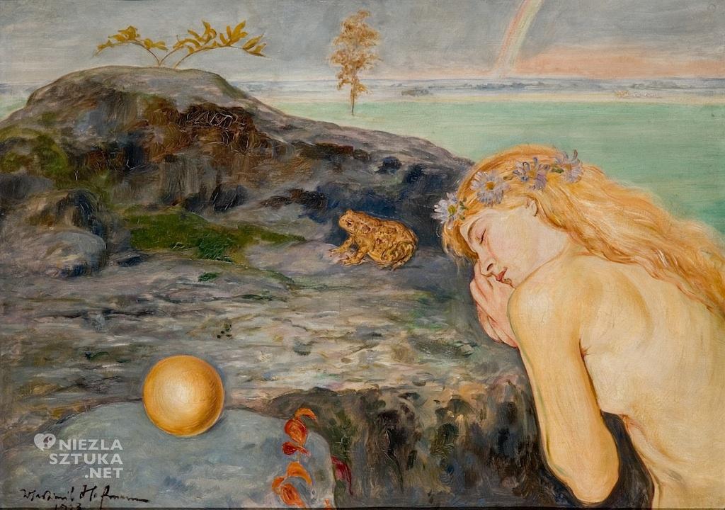 Wlastimil Hofman Dziewczyna z żabą malarstwo polskie