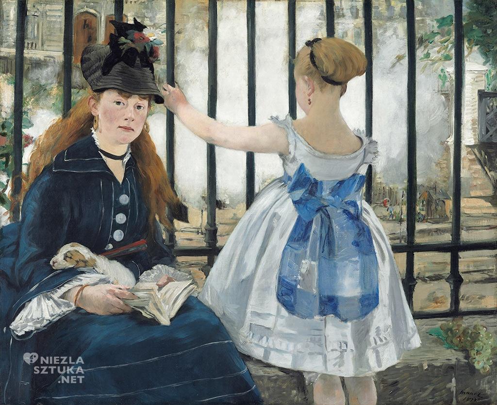 Édouard Manet, Stacja kolejowa |1873, olej,płótno, ja: National Gallery of Art w Waszyngtonie