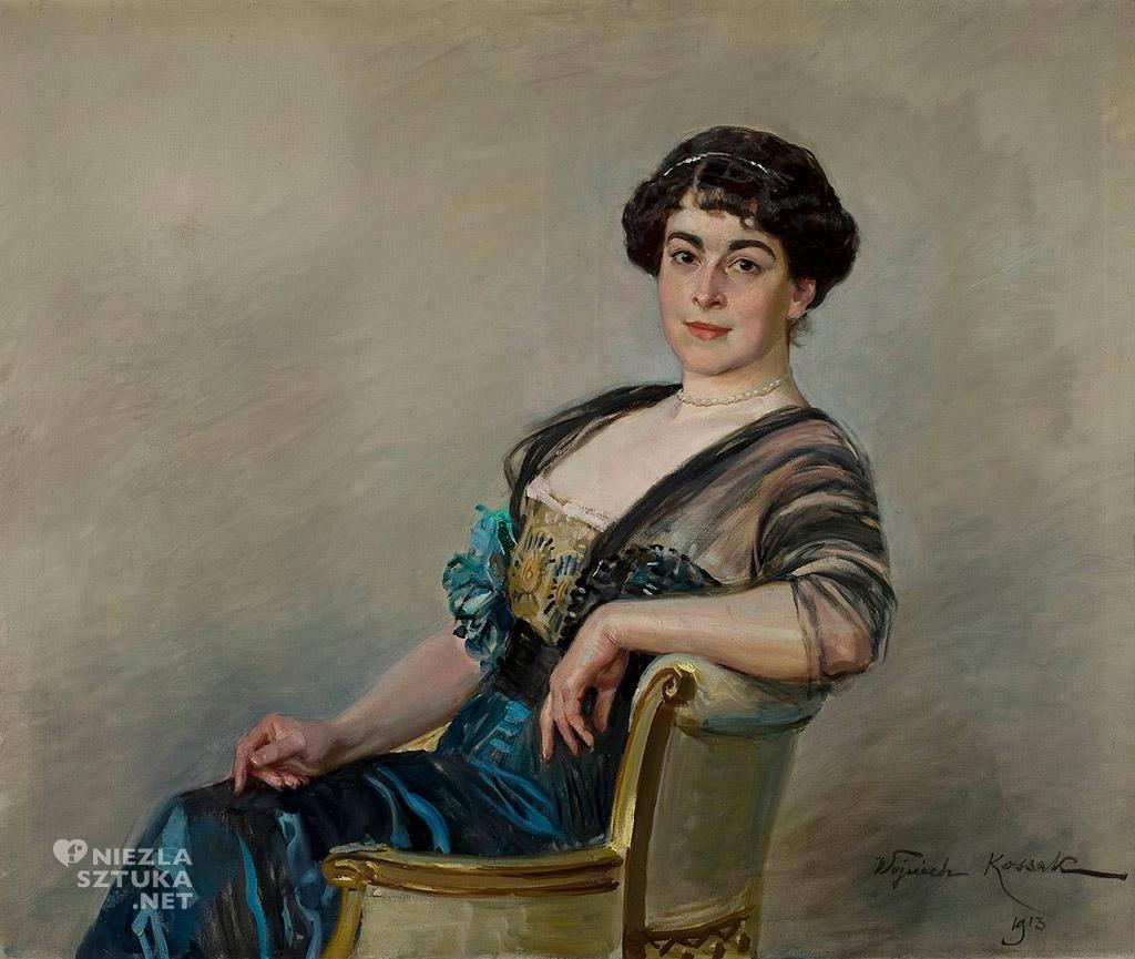 Wojciech Kossak Portret kobiety