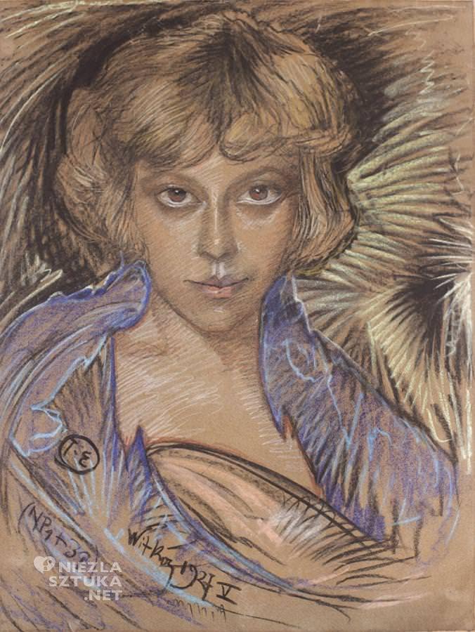 Stanisław Ignacy Witkiewicz, Portret Zofii Bagniewskiej, z domu Małeckiej |pastel, papier, zbiory prywatne