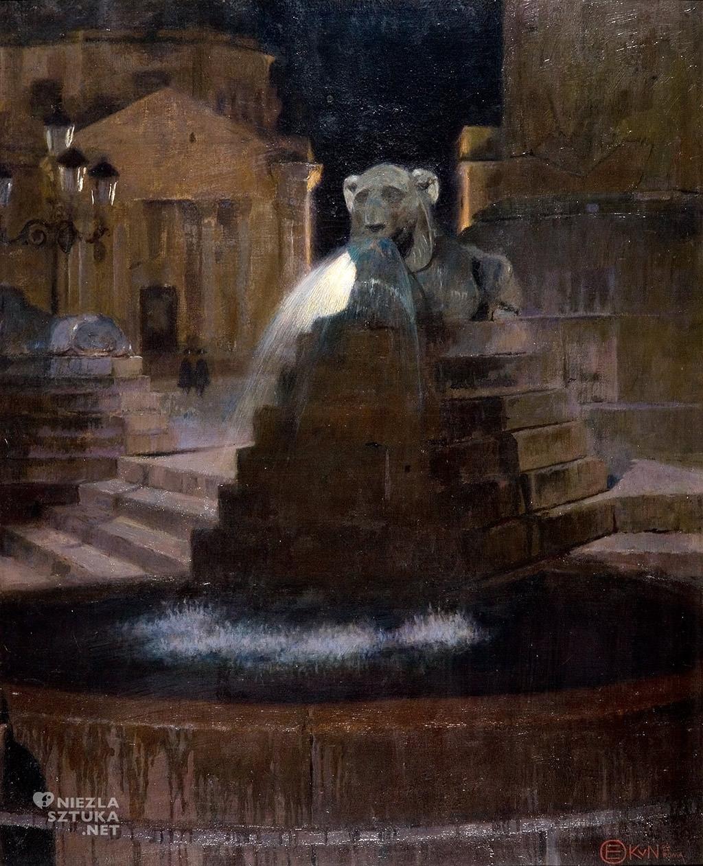 Edward Okuń Fontanna na Piazza del Poppolo | 1900, Muzeum Pałac Herbsta Muzeum Sztuki w Łodzi malarstwo polskie Niezła sztuka