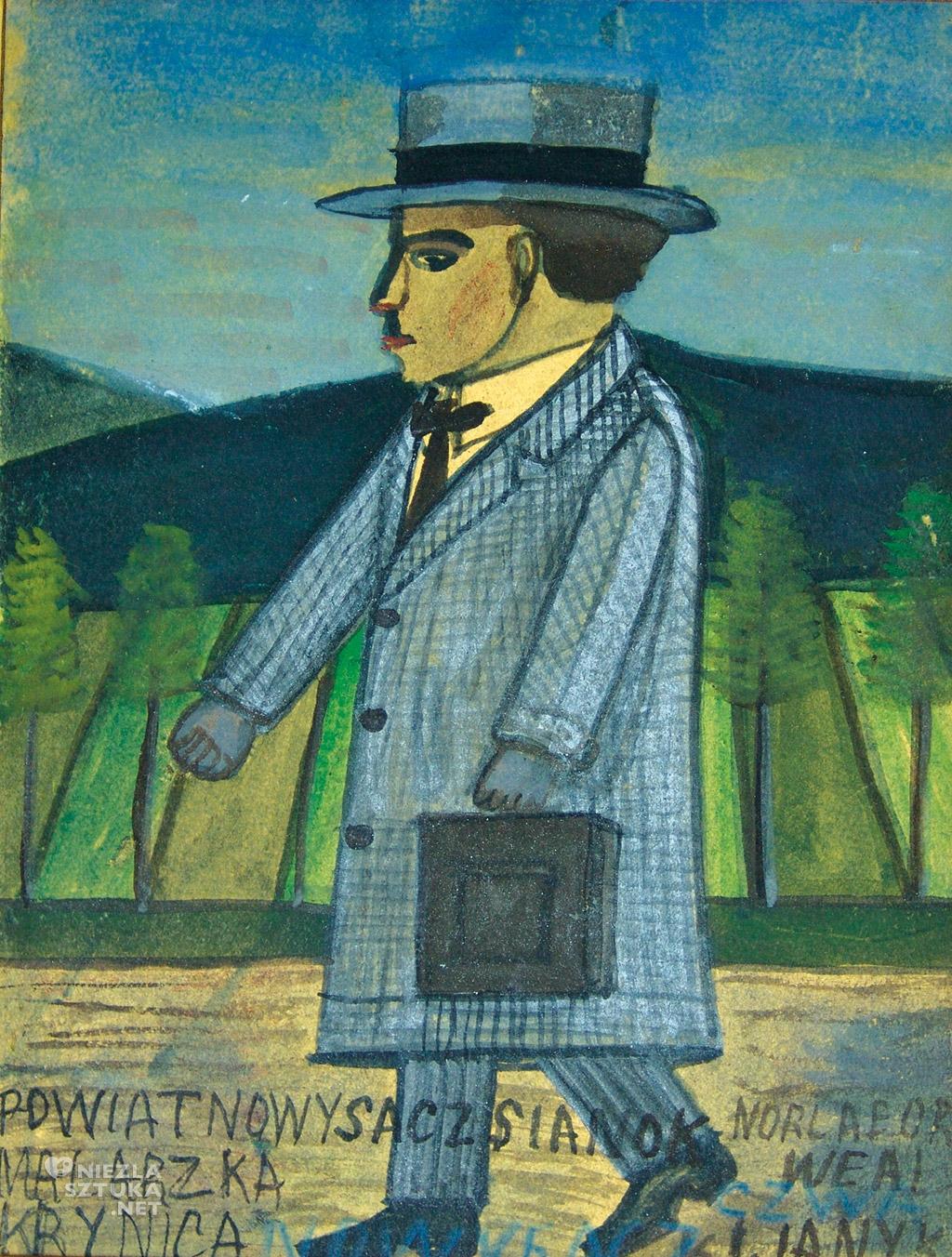 Nikifor Krynicki autoportret malarstwo