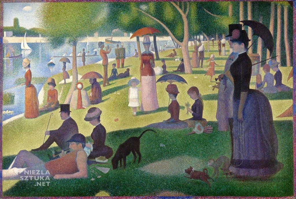 Georges Seurat Niedzielne popołudnie na wyspie Grande Jatte