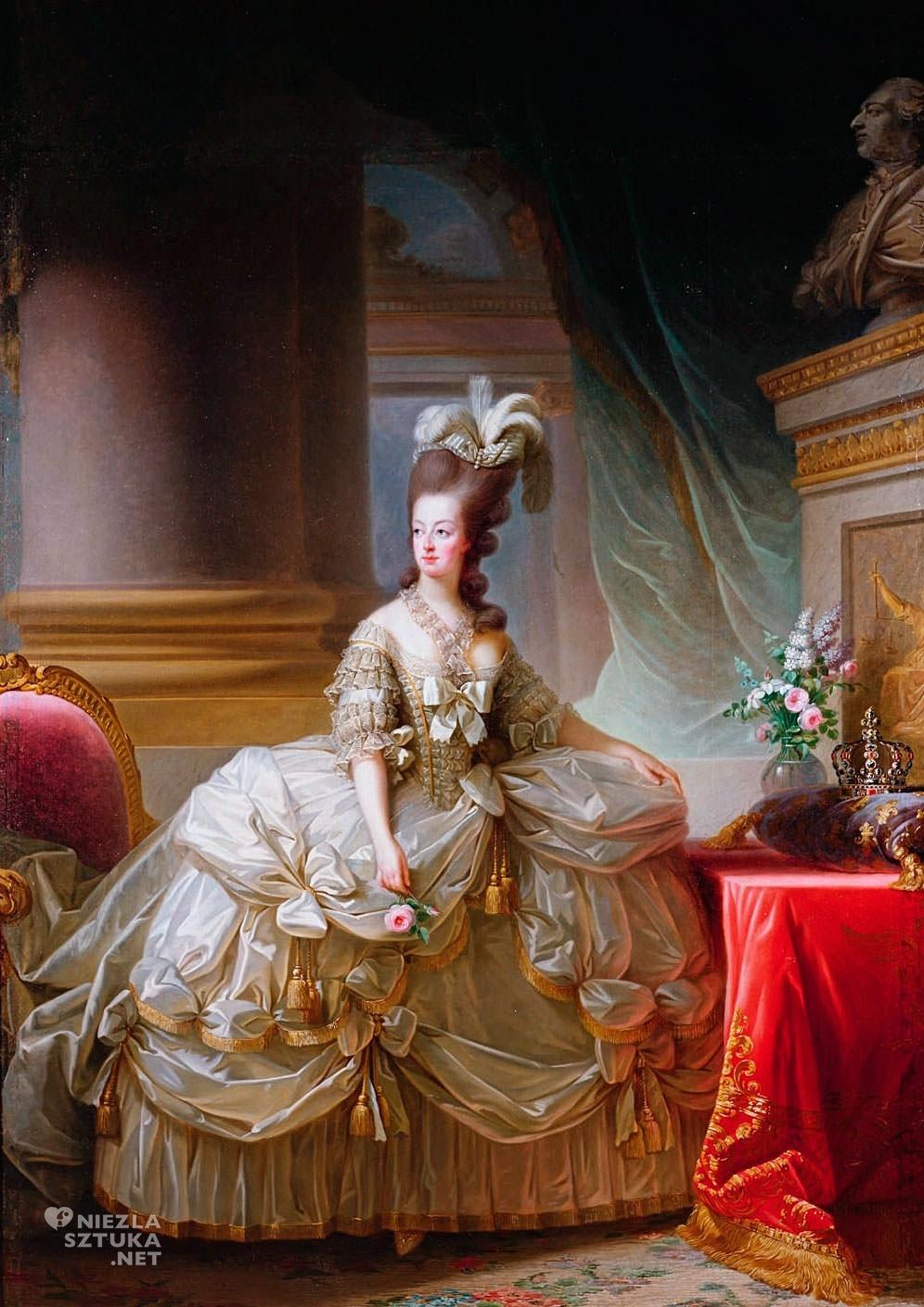 Elisabeth Vigée-Lebrun Maria Antonina w sukni dworskiej