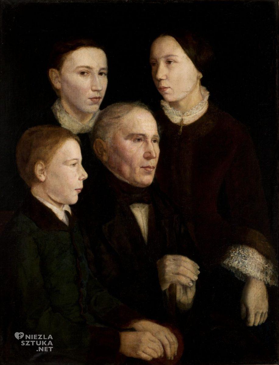 Jan Matejko, Portret Franciszka Matejki z trojgiem dzieci