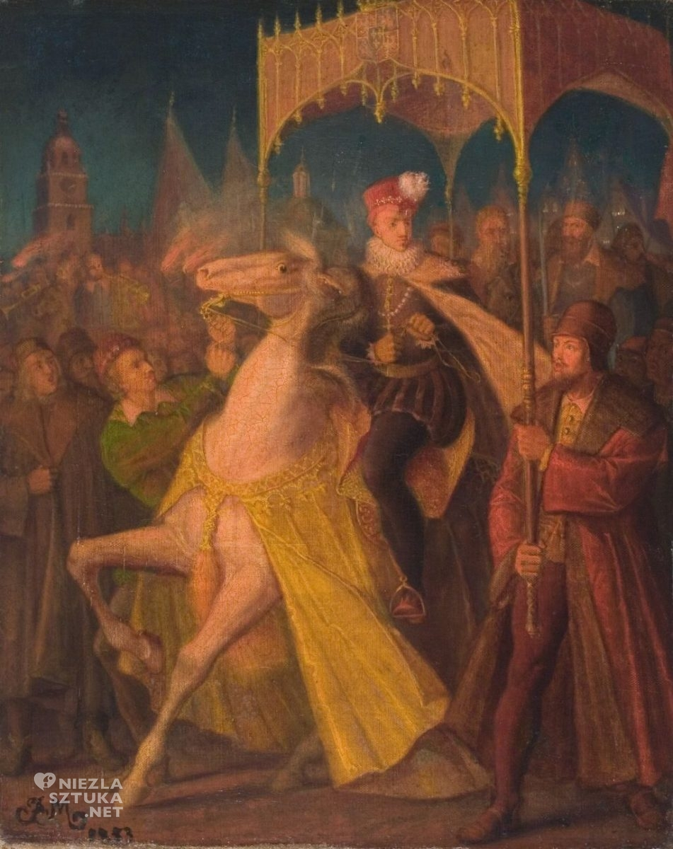 Jan Matejko Wjazd Henryka Walezego do Krakowa 1853