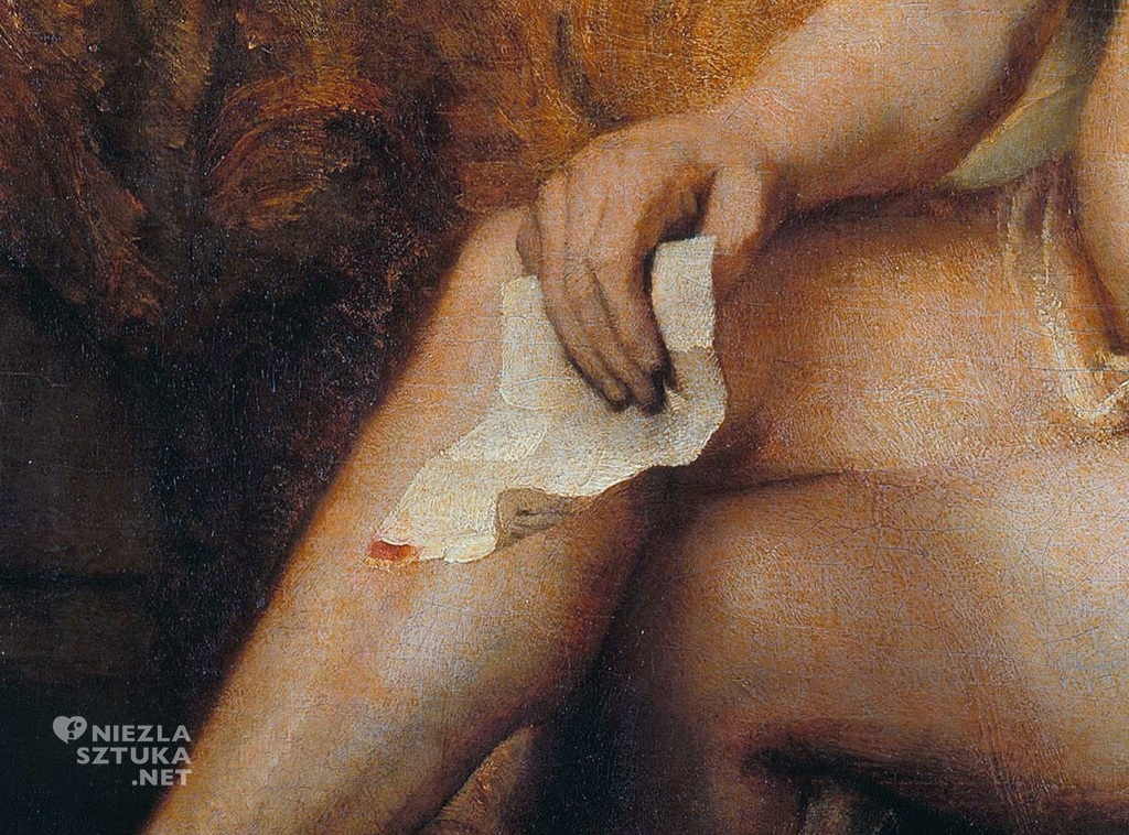 Rembrandt, Batszeba w kąpieli, Luwr, obraz, Niezła sztuka