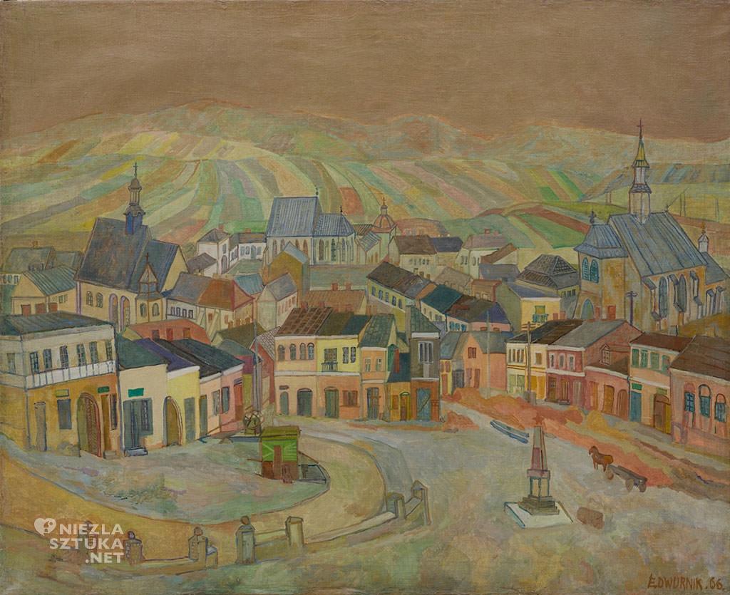 Edward Dwurnik, Chęciny | 1966, własność artysty