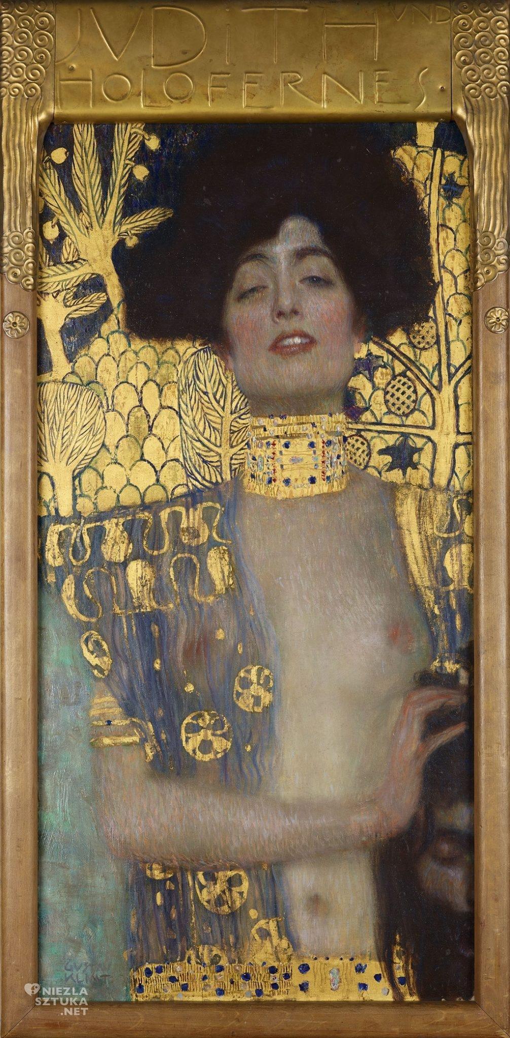 Gustav Klimt, Judyta z głową Holofernesa, 1901, Österreichische Galerie Belvedere, Wiedeń, Niezła sztuka