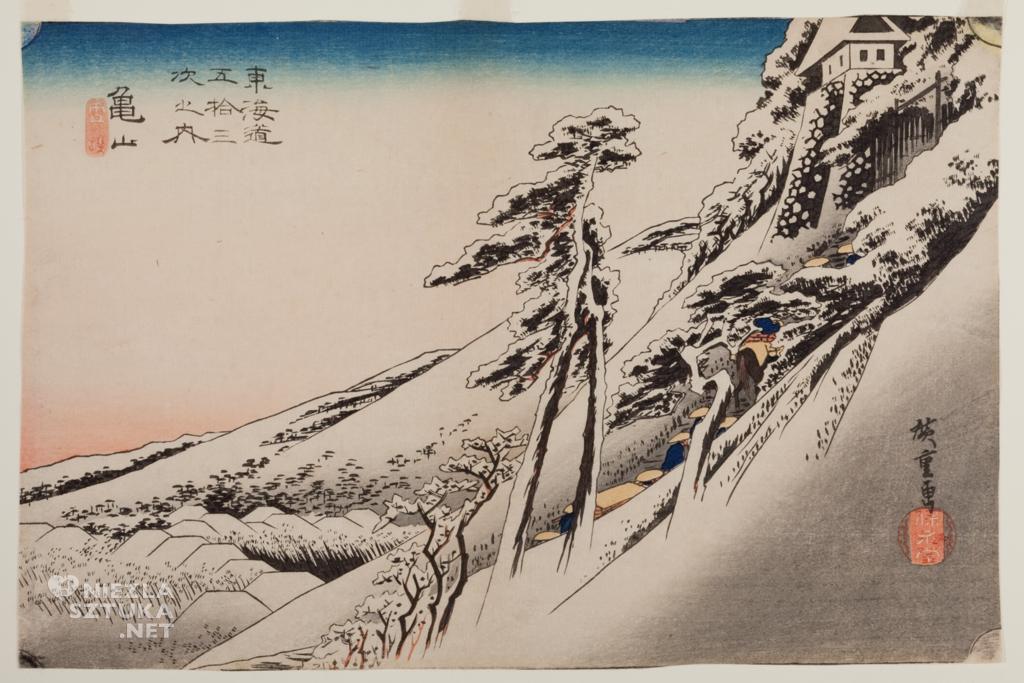 Utagawa Hiroshige Rozpogodzenie po sniezycy w Kameyama