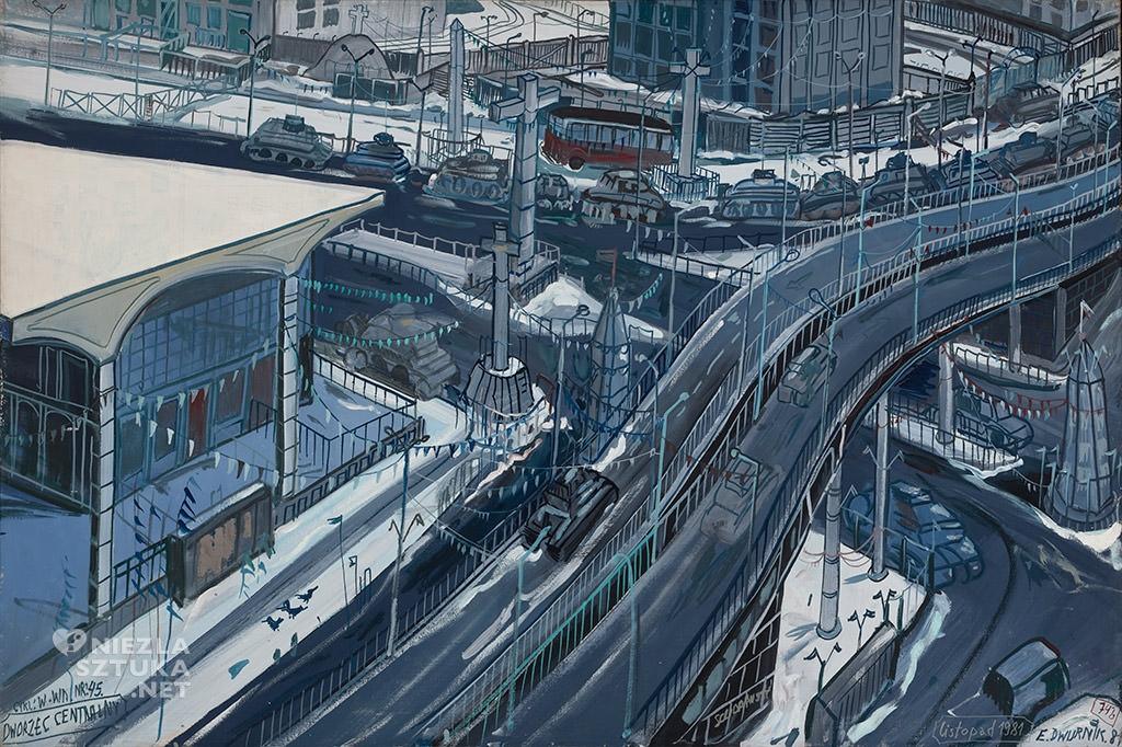 Edward Dwurnik obraz Dworzec Centralny Niezła sztuka