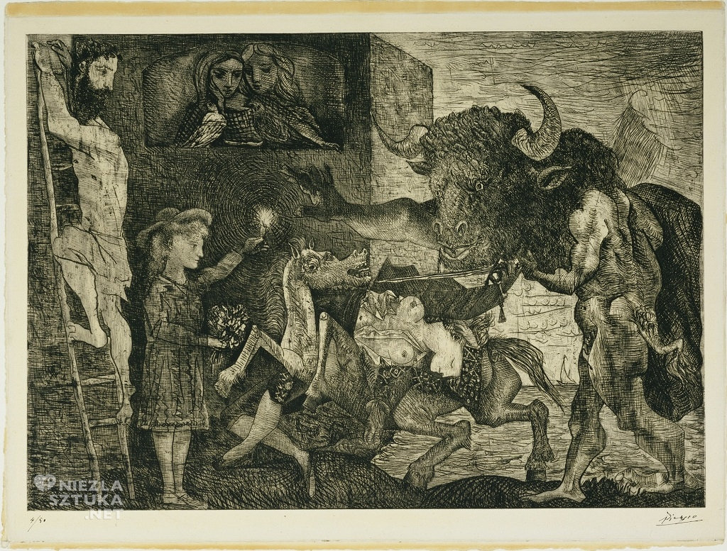 Pablo Picasso <em>Minotauromachia</em> | 1935, MoMa, Nowy Jork, Niezła sztuka