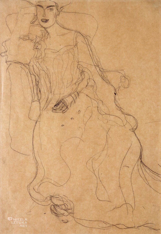 Gustav Klimt, Szkic do obrazu - Adele Bloch-Bauer, Neue Galerie, New York, Niezła sztuka