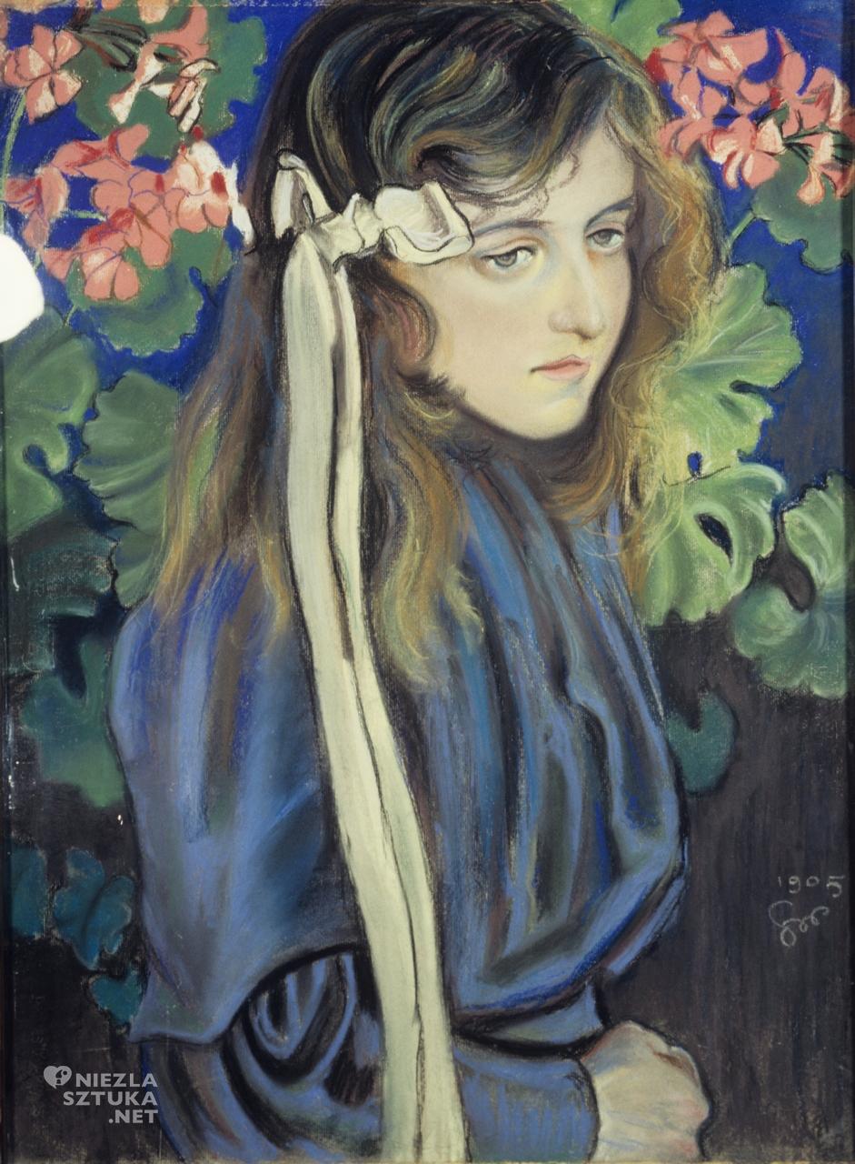 Stanisław Wyspiański Portret Elizy Pareńskiej, 1905, Muzeum Narodowe w Kielcach, portret, polska sztuka, Niezła sztuka