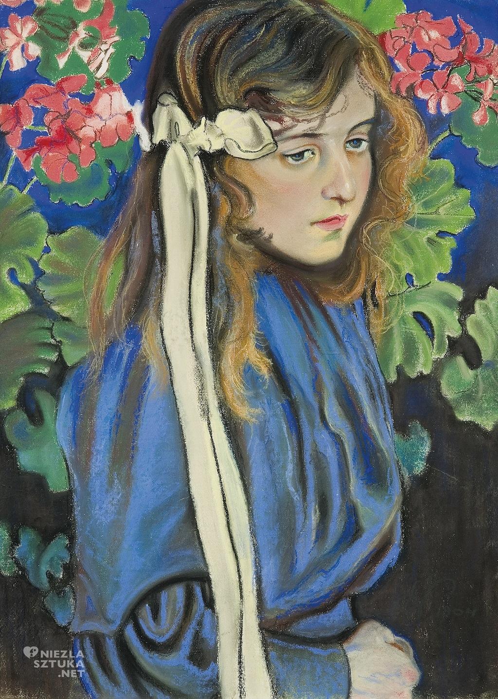 Stanisław Wyspiański, Portret Lizy Pareńskiej, 1904