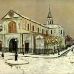"Maurice Utrillo ""Notre Dame w Clignantcourt"""