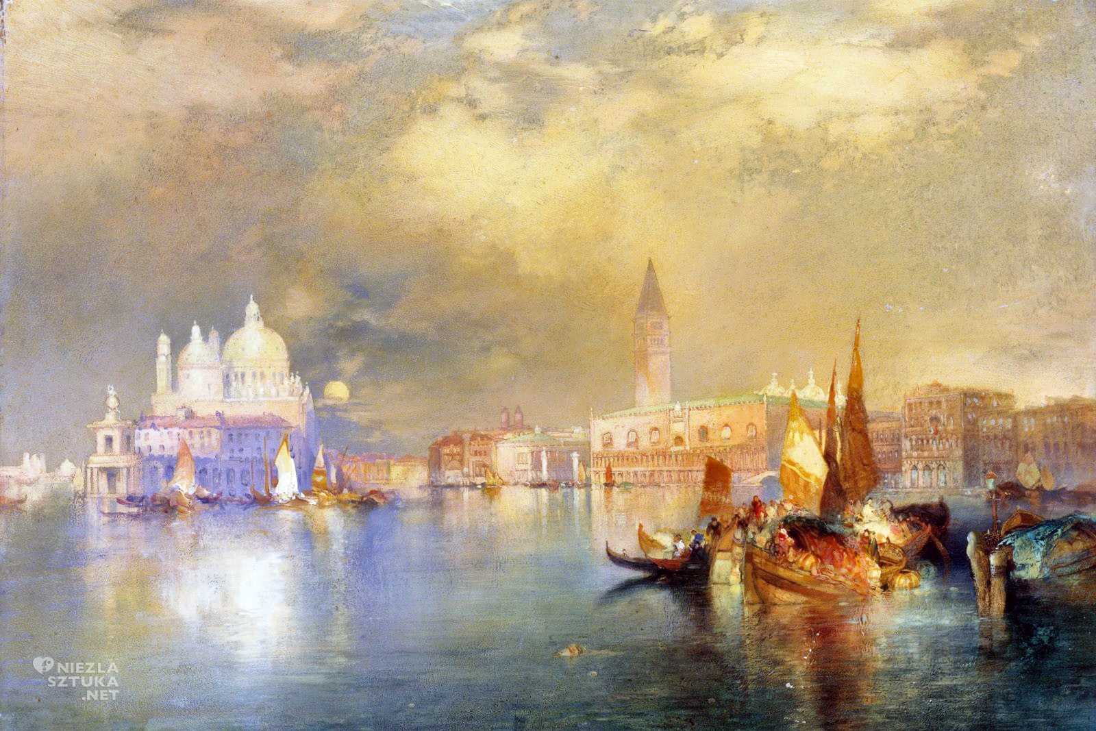 "Thomas Moran ""Moonlight in Venice"""