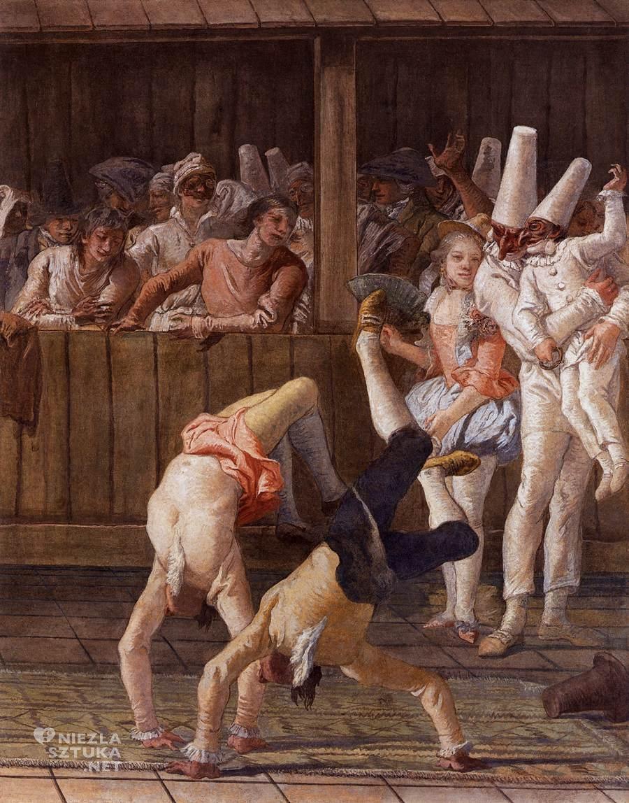 """Giandomenico Tiepolo """"Pulcinella i linoskoczkowie"""", 1797"""