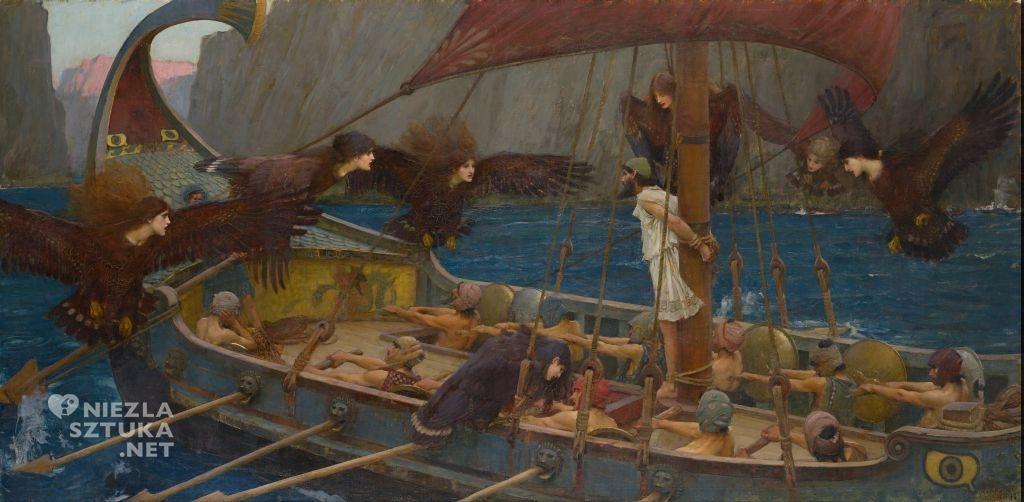 John William Waterhouse, Ulisses i syreny prerafaelici malarstwo sztuka XIX wieku