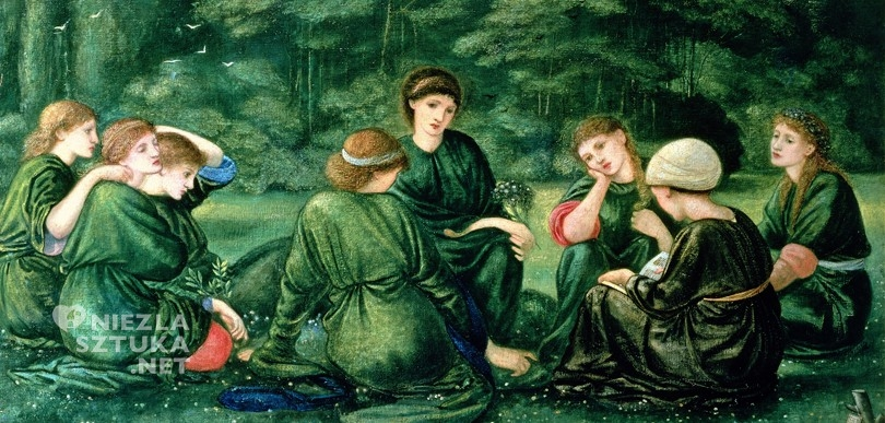 Sir Edward Coley Burne-Jones, Zielone lato prerafaelici malarstwo sztuka XIX wieku