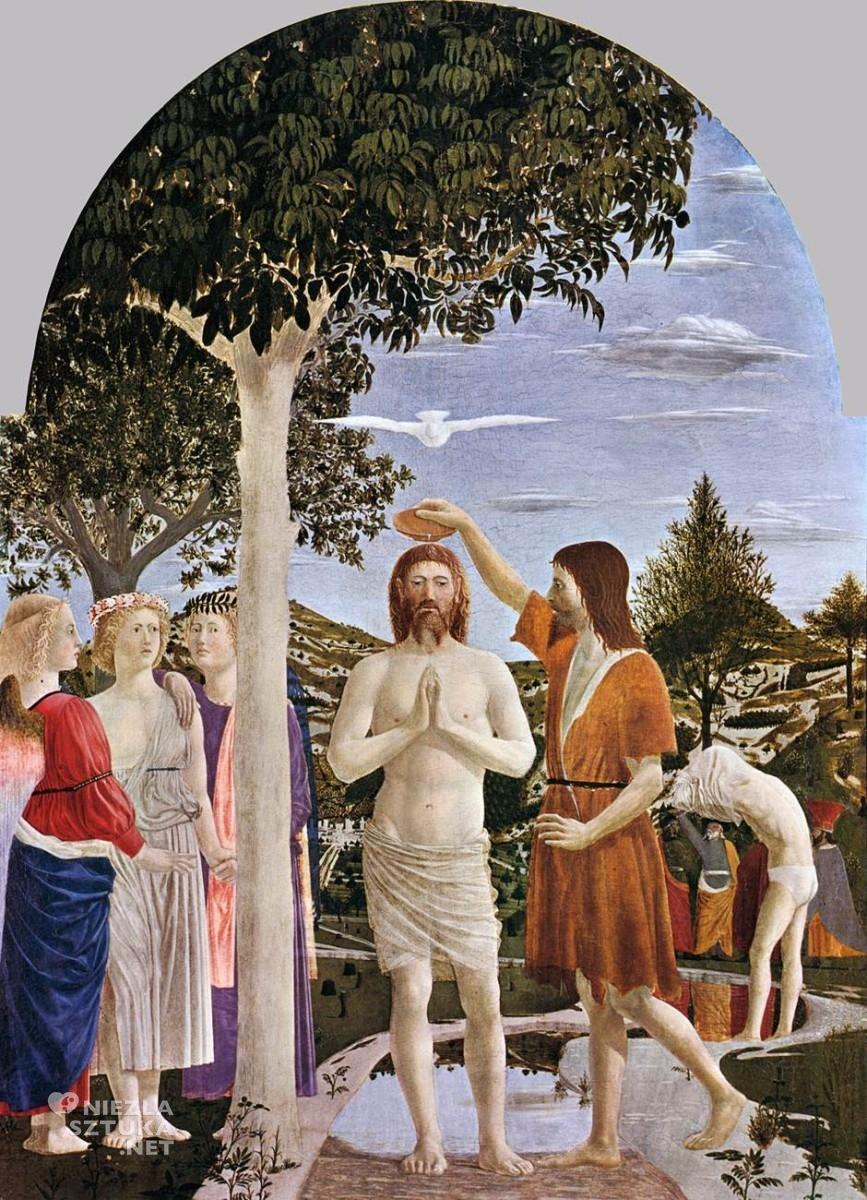 """Piero della Francesca """"Chrzest Chrystusa"""", ok. 1450"""