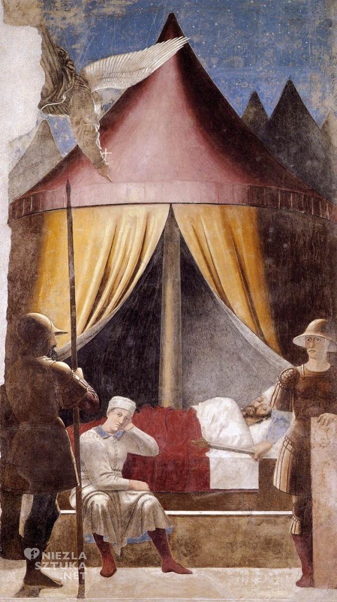 """Piero della Francesca """"Sen Konstantyna"""", 1466"""