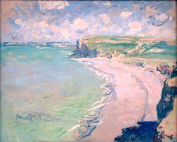 Claude Monet Plaża w Pourville, impresjonizm, sztuka polska, Niezła Sztuka