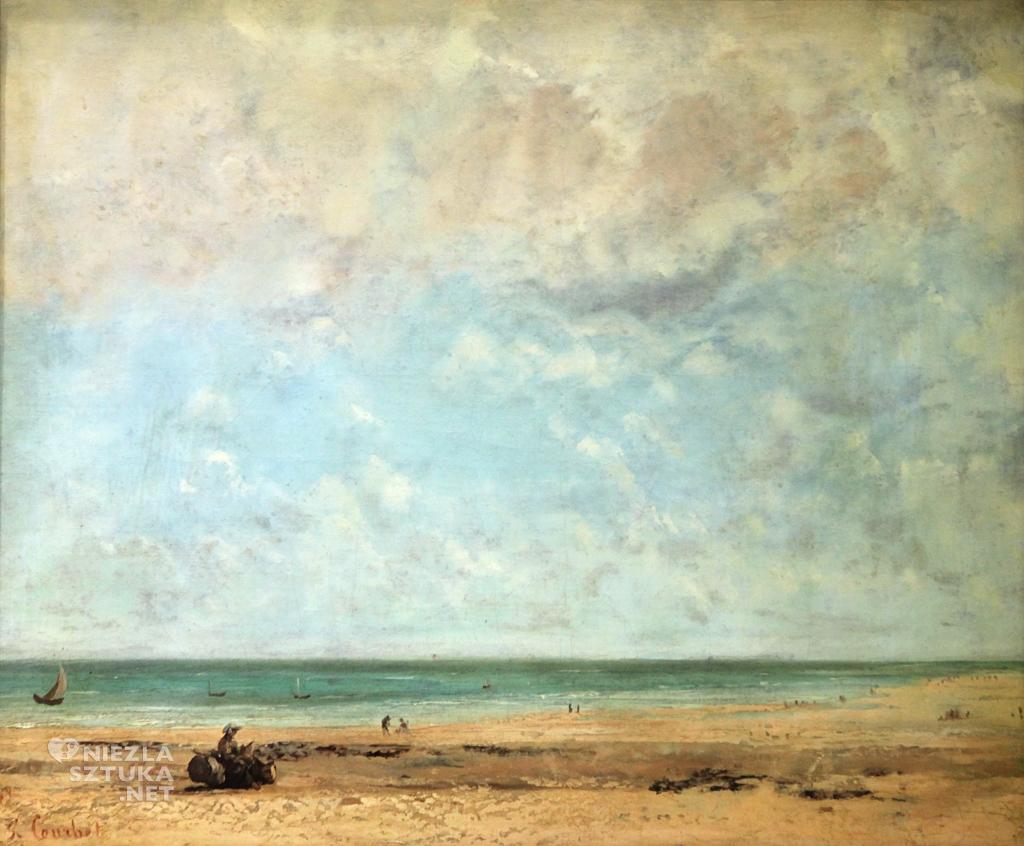 Gustave Courbet, Brzeg morza, impresjonizm, niezła sztuka