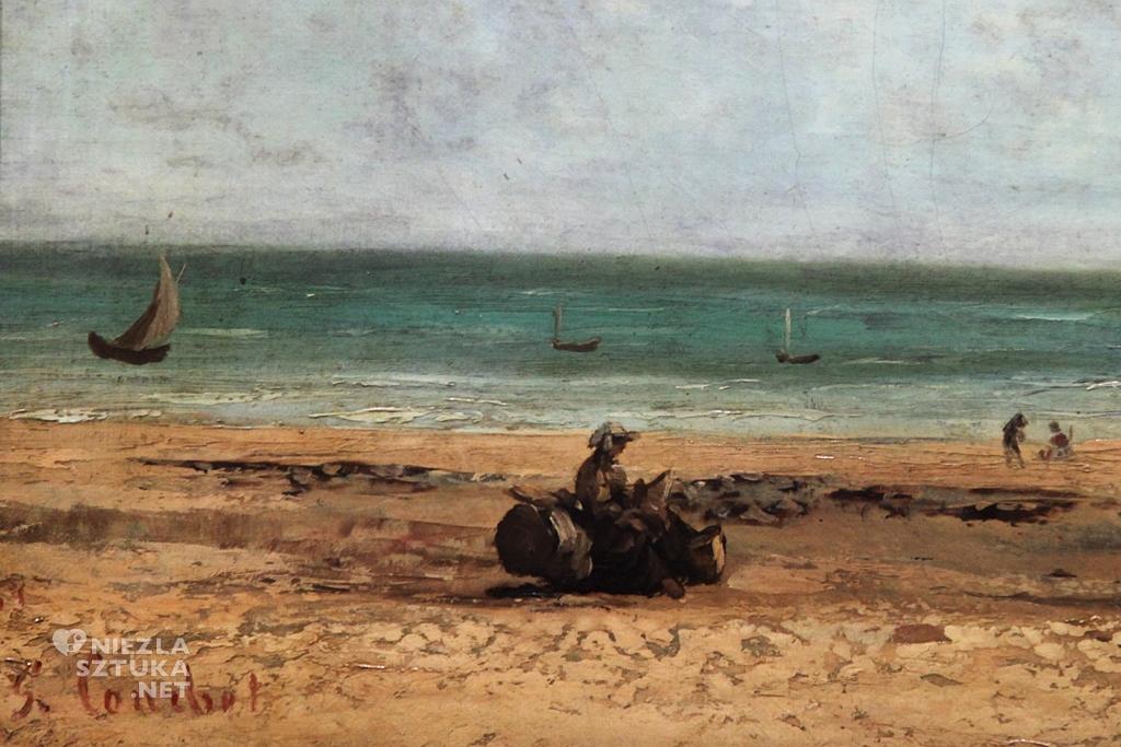 Gustave Courbet, Brzeg morza, malarstwo, sztuka polska, Niezła Sztuka