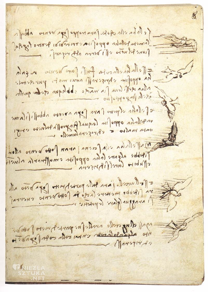 Leonardo da Vinci Karta z traktatu o lataniu ptaków