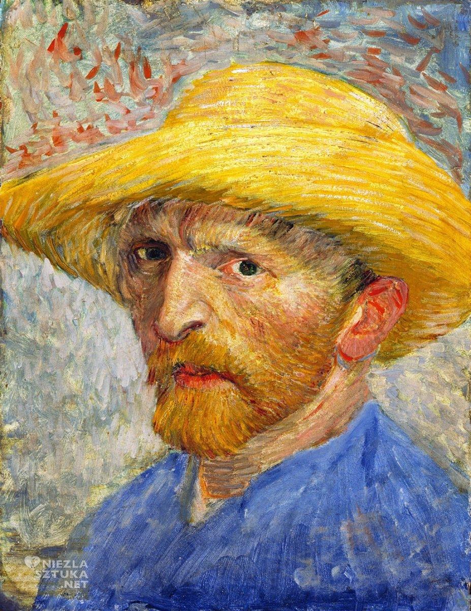Vincent van Gogh, Autoportret w słomkowym kapeluszu, malarstwo, sztuka światowa, Niezła Sztuka