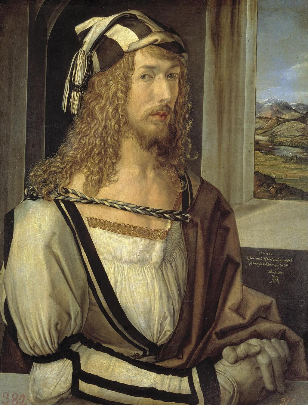 Albrecht Dürer, Prado, Autoportret w rękawiczkach, autoportret, Niezła sztuka