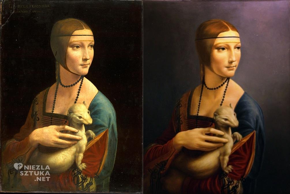 Mirosław Sikorski kopia Damy z gronostajem malarstwo polskie Leonardo da Vinci muzeum Czartoryskich