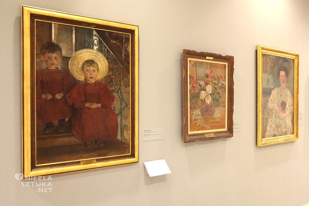 Olga Boznańska, Dzieci siedzące na schodach, Muzeum Narodowe w Poznaniu, polska sztuka, polskie muzea, Niezła Sztuka