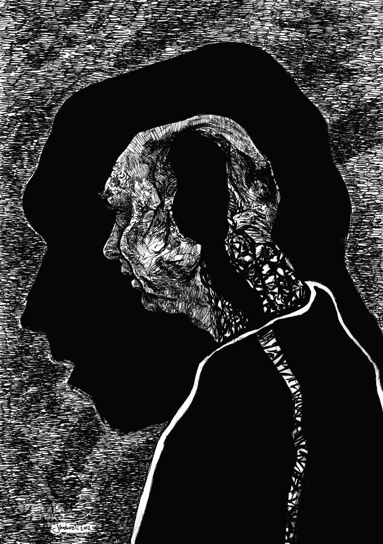Krzysztof Schodowski portret Jacka Dudka