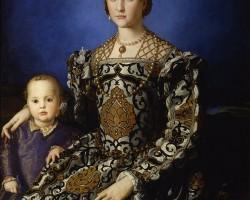 Agnolo Bronzino, Portret Eleonory Toledańskiej z synem Janem, ok. 1545 olej na desce, 115 × 96 cm, Galeria Uffizi, Florencja, Niezła sztuka