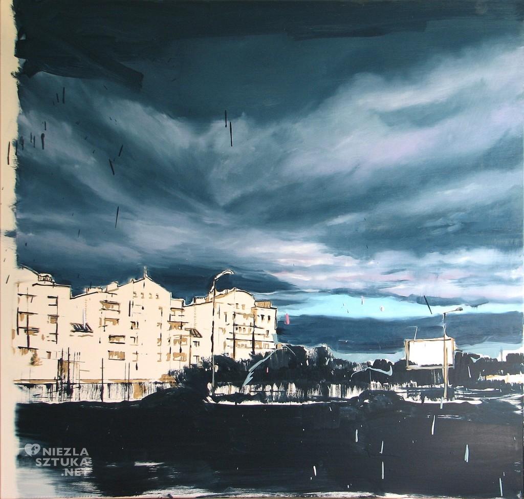 'A zimą ciągle marzną mi dłonie ', 2014, 100x105 cm, olej na płótnie