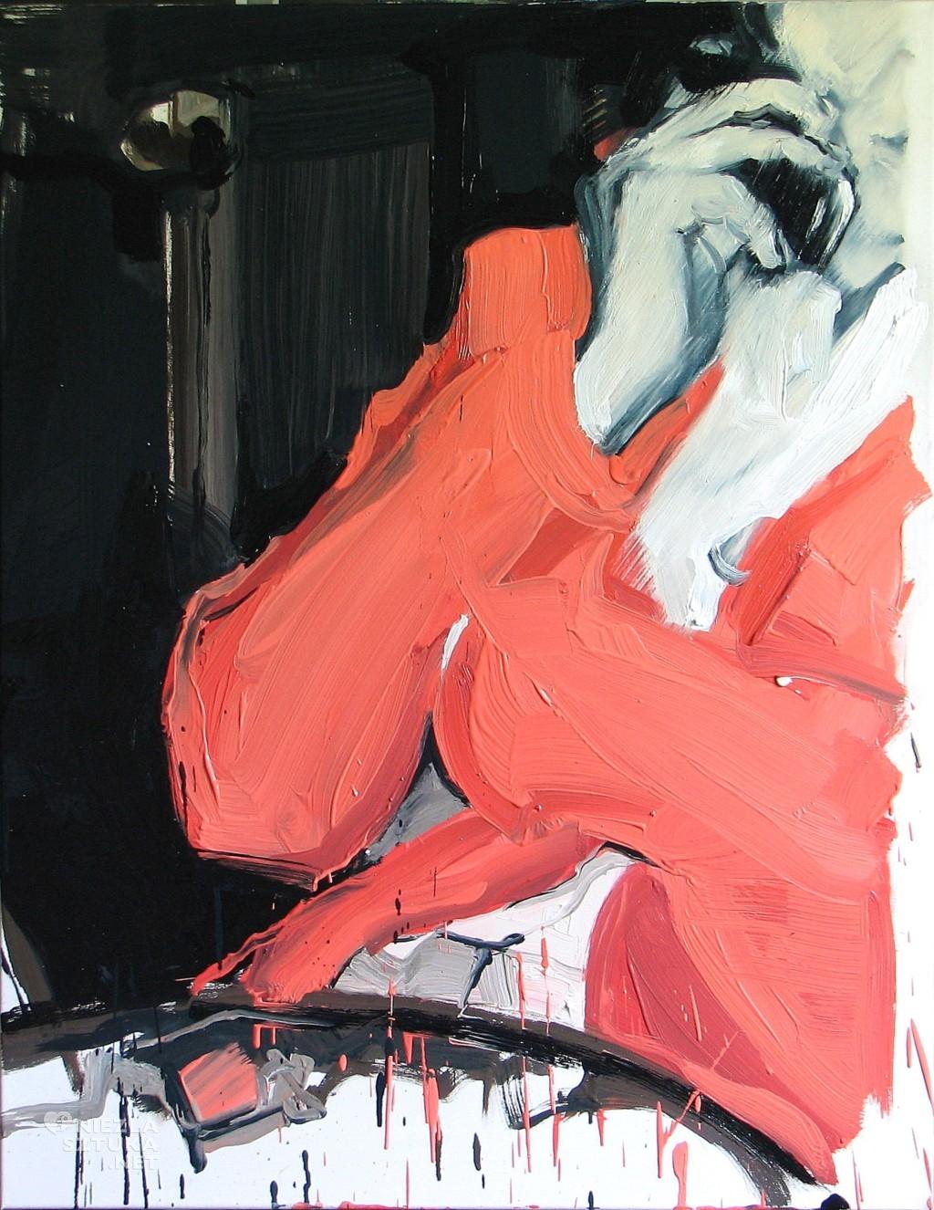 'Halo', 2014, 90x70 cm, olej na płótnie