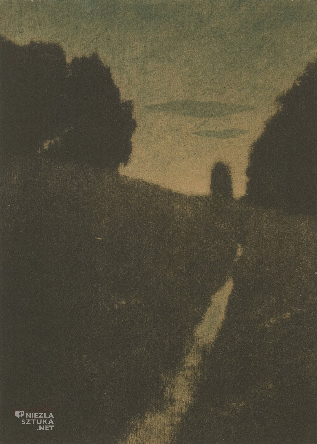 Heinrich Kuehn + Twilight - Dammerung +1898 + bichromate print with watercolor + Albertina Museum - Vienna