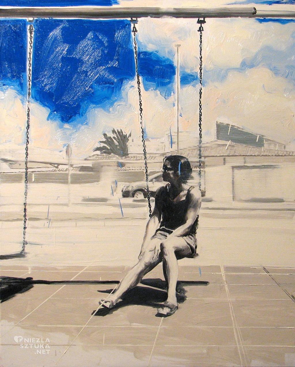 'Na huśtawce', 2014, 105x85 cm, olej na płótnie