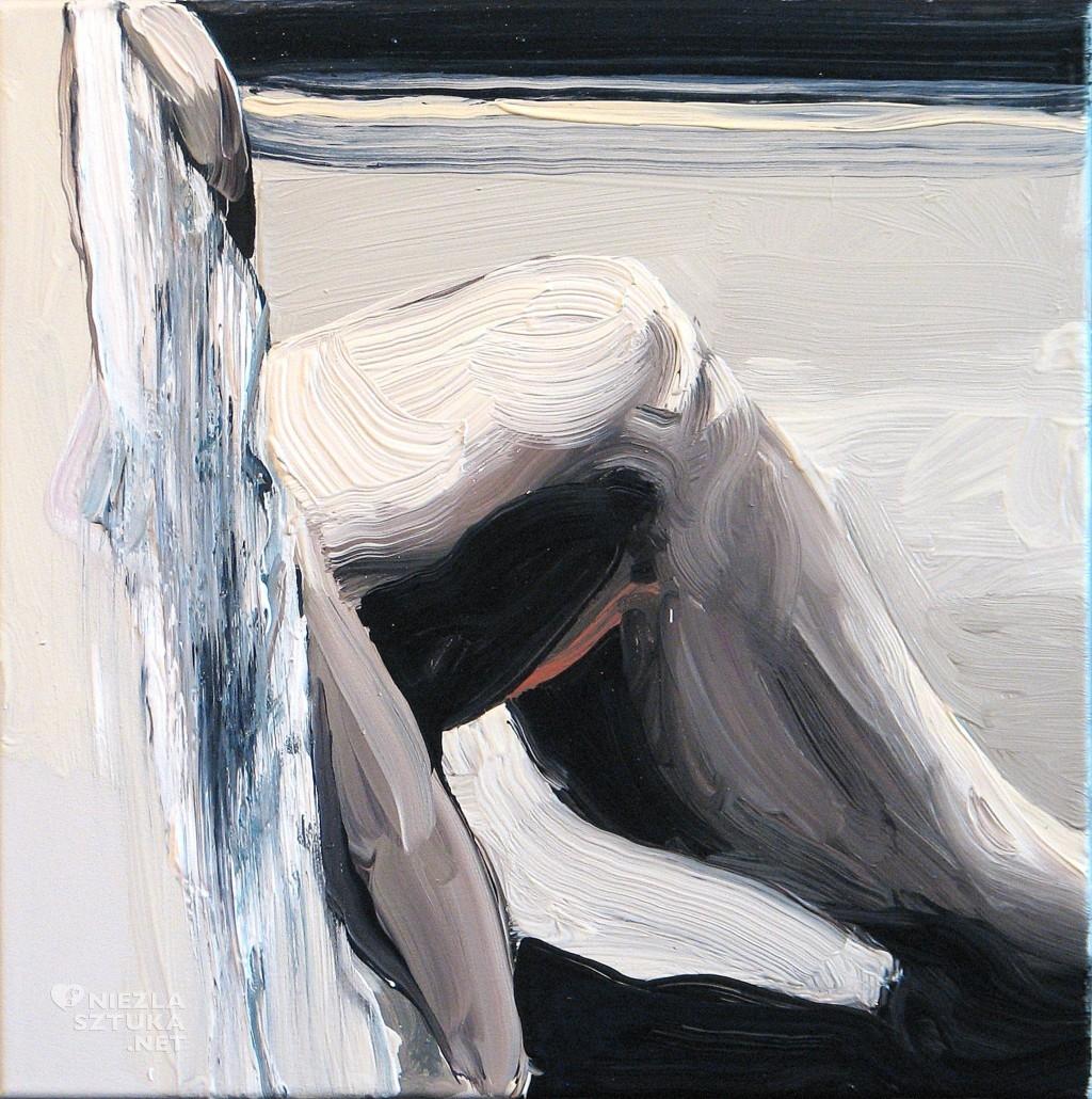 'Na kolanie malowane I.', 2014, 40x40 cm, olej na płótnie