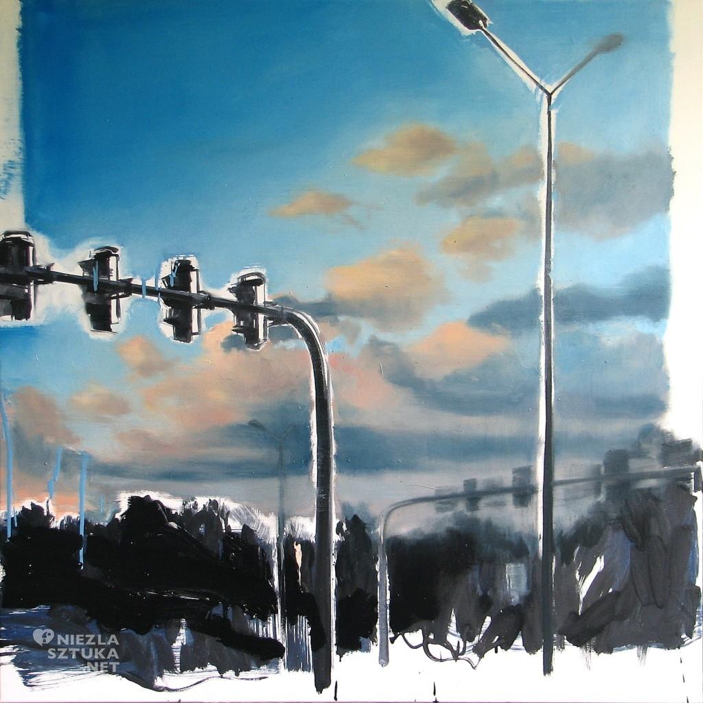 'No i niebo poszło na kawałki', 2014, 90x90 cm, olej na płótnie