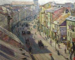 Władysław Podkowiński, Ulica Nowy Świat w dzień letni, Muzeum Narodowe w Warszawie, polska sztuka, Niezła sztuka