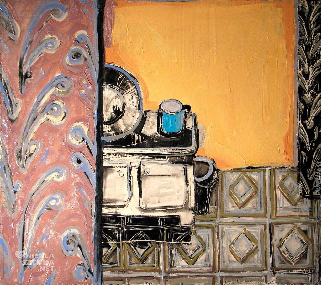 'Opisywanie świata III.', 2011, 62x70 cm, olej, akryl na des