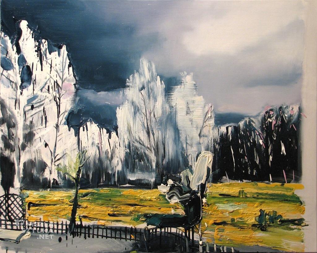 'Pierwsza wiosenna burza', 2014, 80x100 cm, olej na płótnie