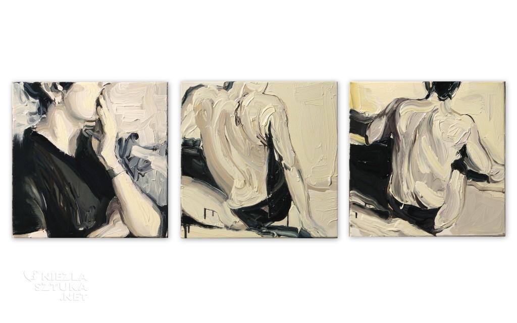'Plamy na słońcu. I, II, III.', 2014, 3x 40x40 cm, olej na płótnie