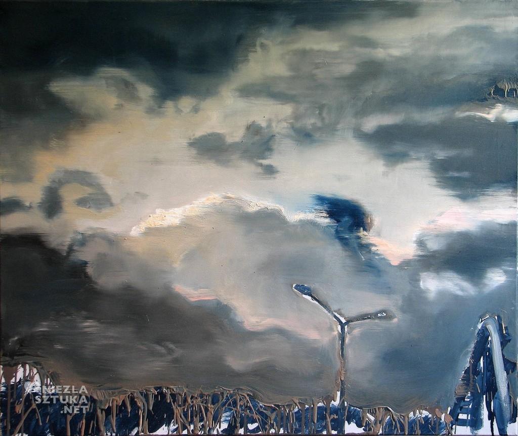'Ponad wierzchołkami drzew zawisło niebo', 2014, 80x95 cm, olej na płótnie