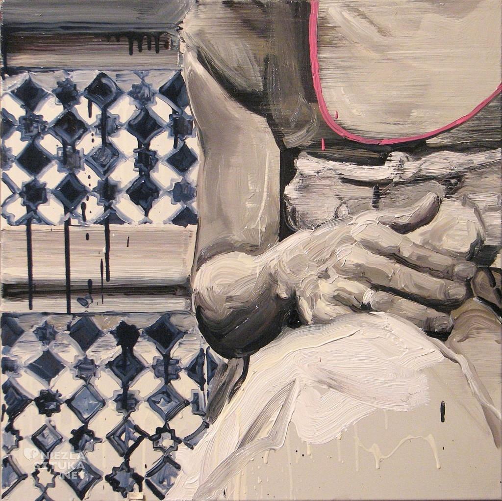 'Szachownica 1.', 2014, 60x60 cm, olej na płótnie