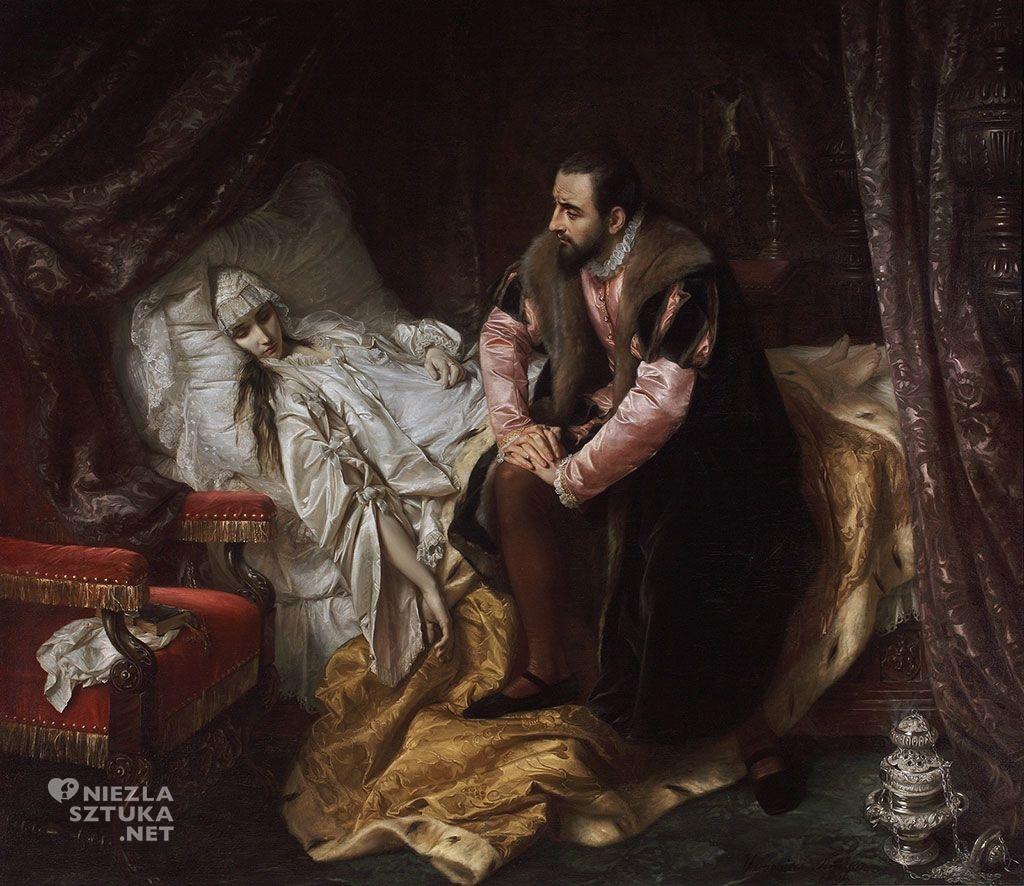 Józef Simmler Śmierć Barbary Radziwiłłówny, 1860