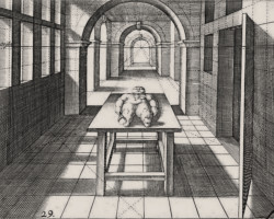 Ornament Hans Vredeman de Vries Perspectiva theoretica ac practica www.niezlasztuka.net